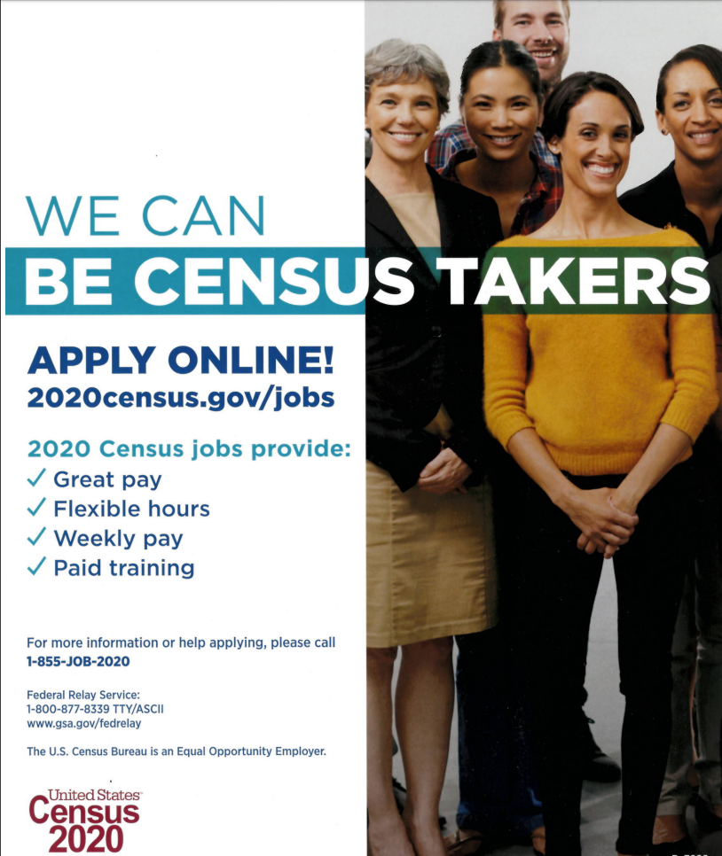 We Can Be Census Takers Poster Image Snip