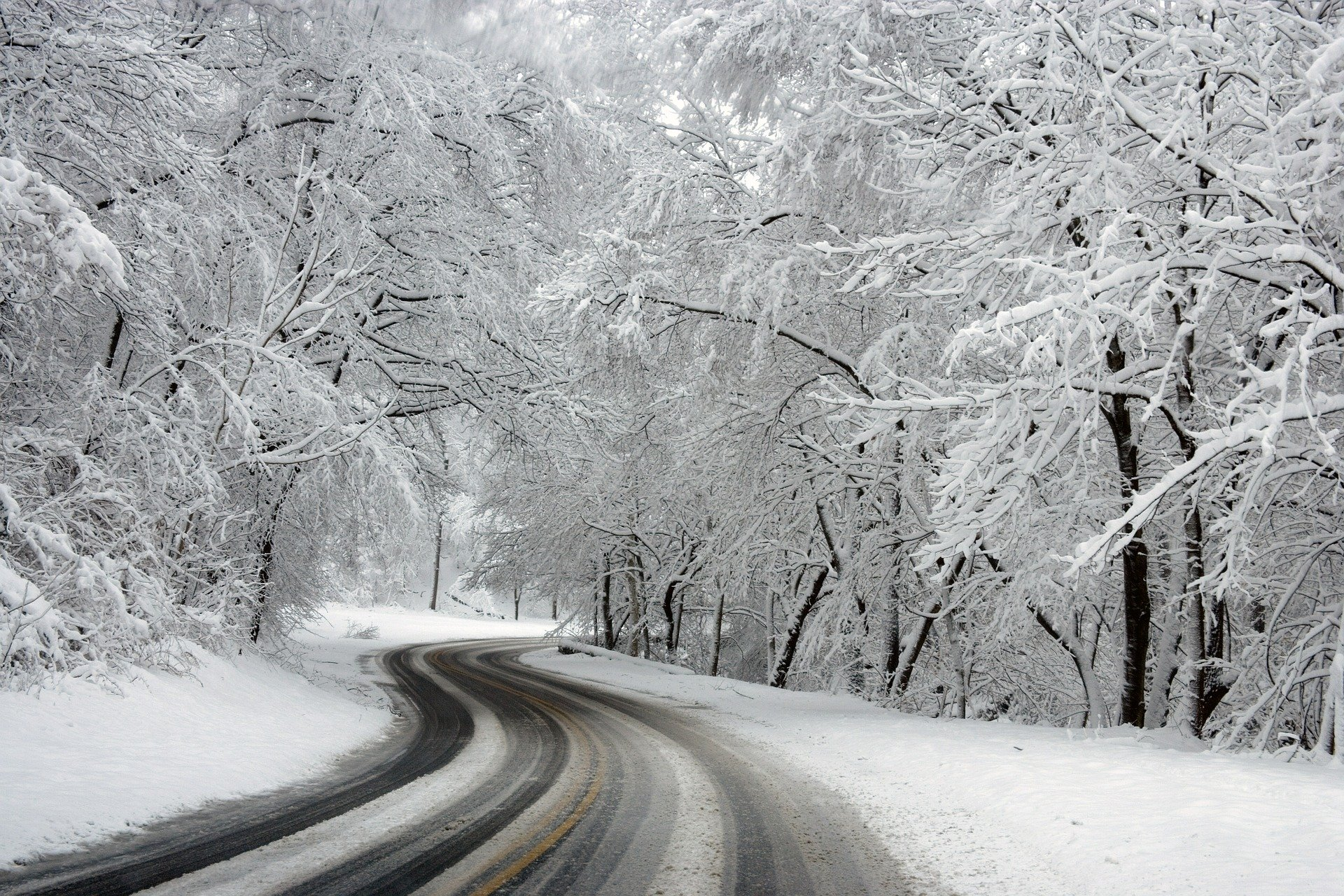Snowy Road Image