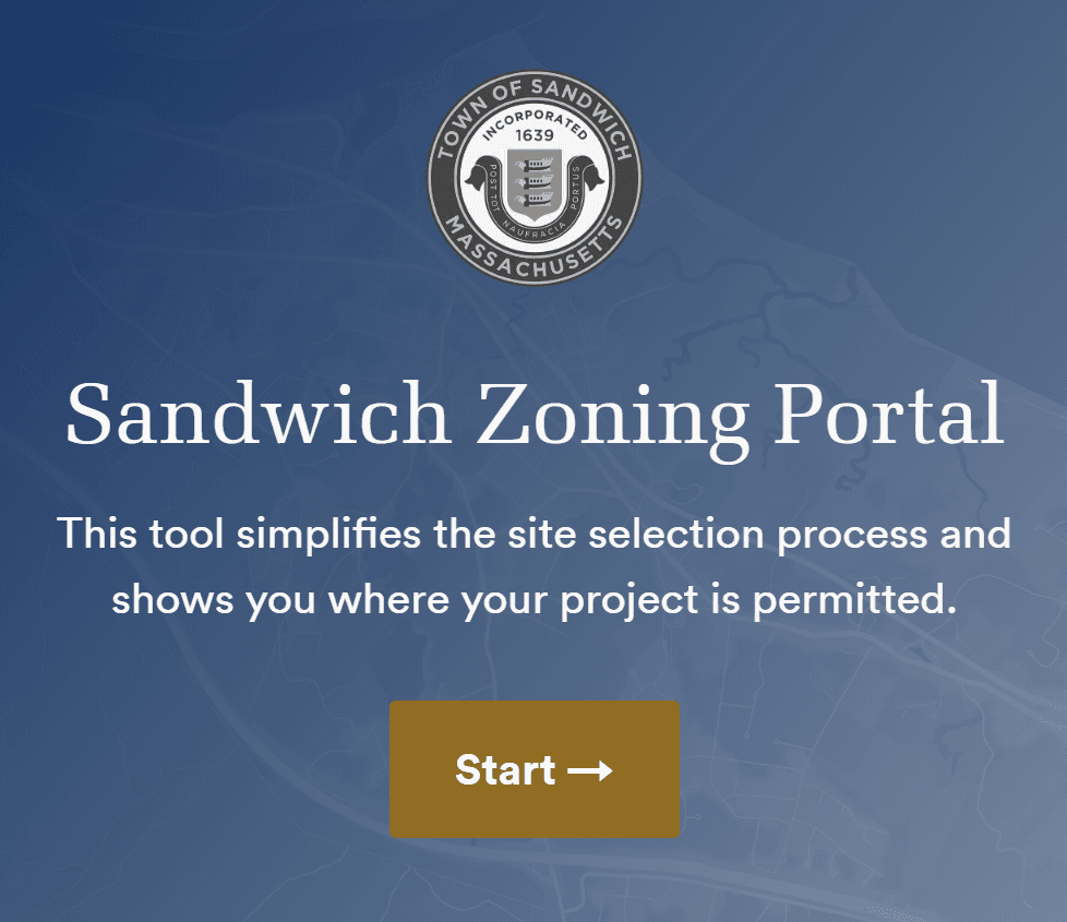 Zoning portal button Opens in new window