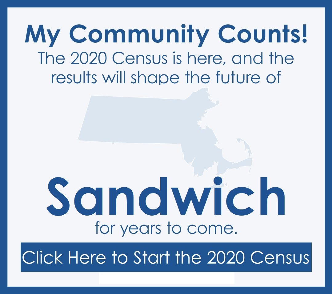 Link to the 2020 Census for Sandwich Residents Opens in new window